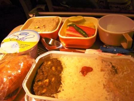 エア インディア 機内食 カレー