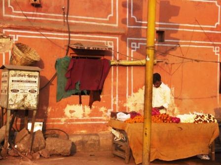 インド 花売り