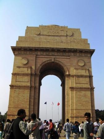 デリーにある、インド門