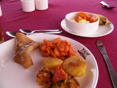 ウメイド・マハル・ホテルの朝食 内容